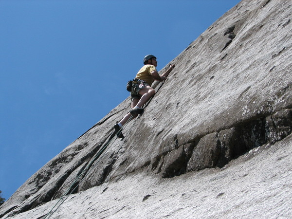 Chris Greyell on Chief Wawetkin wall, Darrington