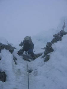 Shuksan - water ice on summit pyramid