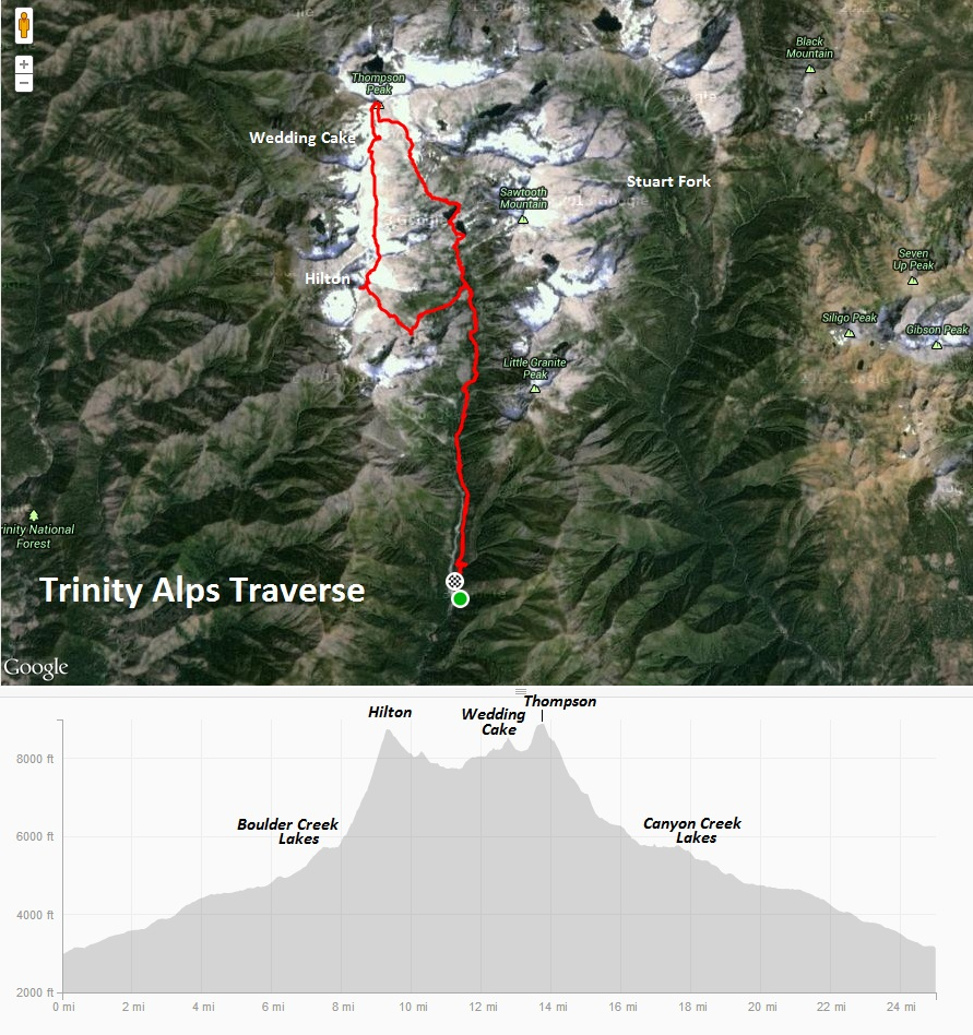 Trinity Alps Traverse – Leor Pantilat\'s Adventures