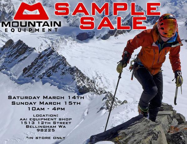 Mountain Equipment Sample Sale