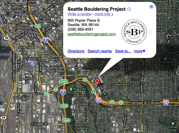 Location of the Seattle Bouldering Project