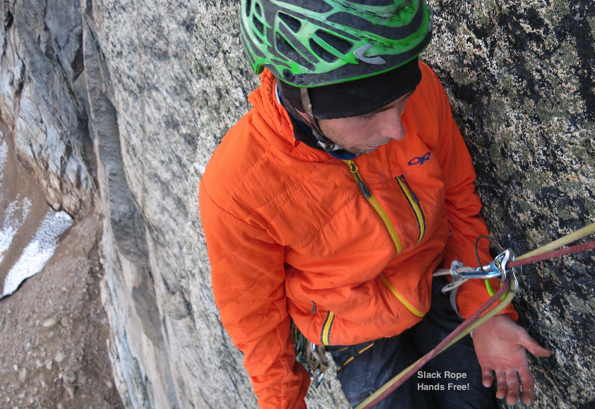 Hands-Free automatically locked off rappel with Edelrid Mega Jul
