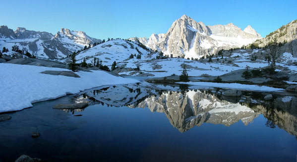 Picture Peak reflecting in Sailor Lake, Sabrina Basin