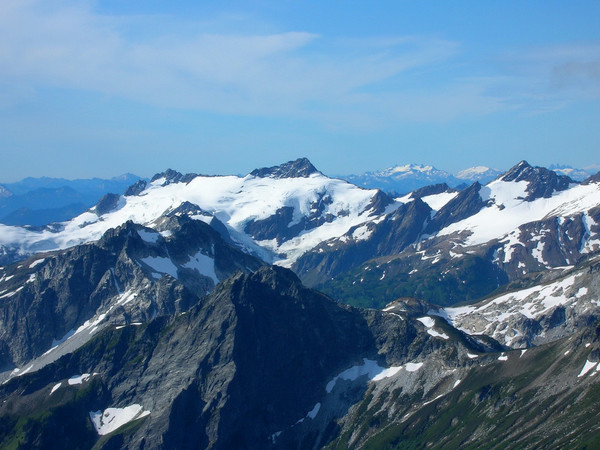 View of Clark Mountain (center) from Fortress Mountain (August 2008)
