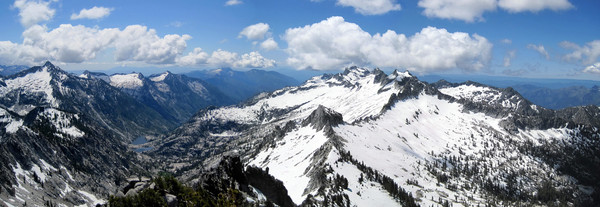 Panorama from Thompson Peak summit
